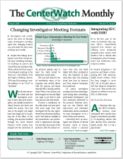 August 2006 – The CenterWatch Monthly : volume 13, Issue 8, August 2006