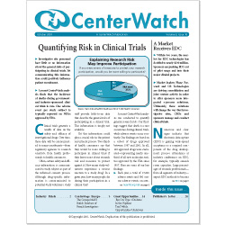 December 1995 - The CenterWatch Monthly : Volume 2, Issue 5, December 2005