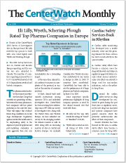 May 2008 – The CenterWatch Monthly : Volume 15, Issue 5, May 2008