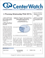 October 1998 - The CenterWatch Monthly : Volume 5, Issue 10, October 1998