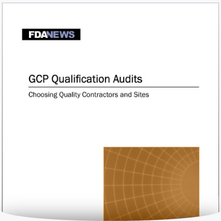 GCP Qualification Audits – Choosing Quality Contractors and Sites : PDF