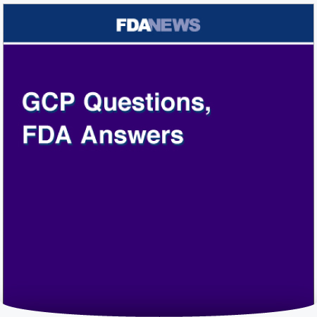 GCP Questions, FDA Answers : PDF